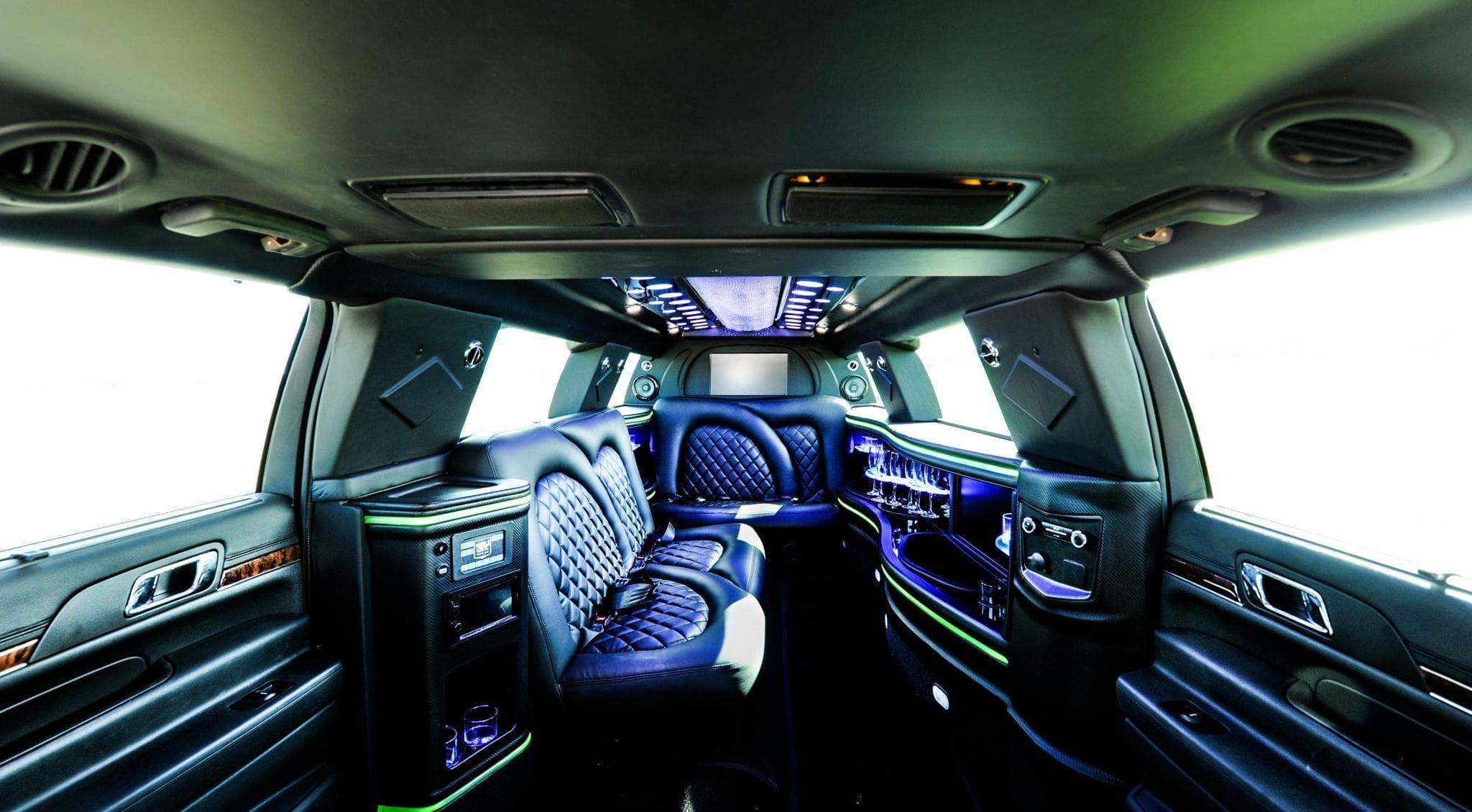 8px MKT Sedan Stretch Limo Interior